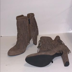 Sam Edelman Suede Fringe Ankle Booties